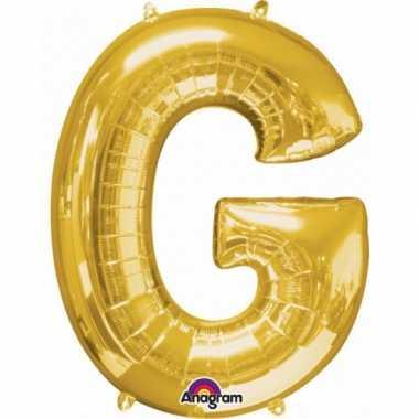 Naam versiering gouden letter ballon g