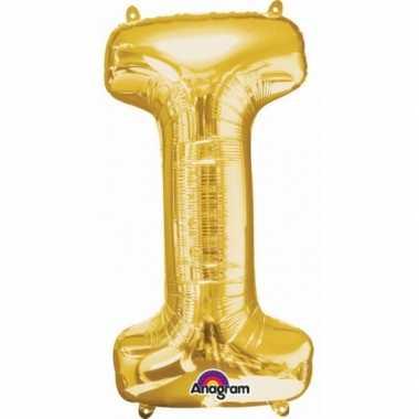 Naam versiering gouden letter ballon i