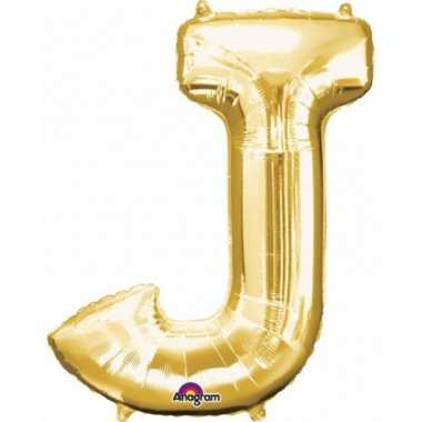 Naam versiering gouden letter ballon j