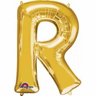 Naam versiering gouden letter ballon r
