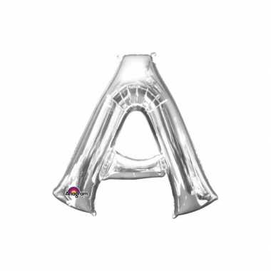 Naam versiering zilveren letter ballon a