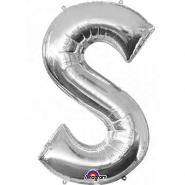 Naam versiering zilveren letter ballon s