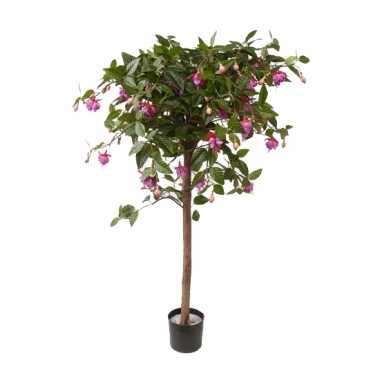 Namaak fuchsia hartjes boom op stam 90 cm