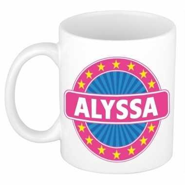 Namen koffiemok / theebeker alyssa 300 ml