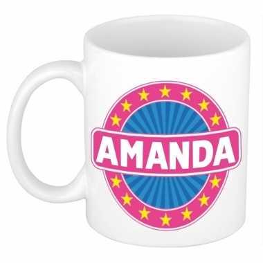 Namen koffiemok / theebeker amanda 300 ml