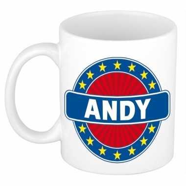 Namen koffiemok / theebeker andy 300 ml