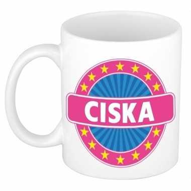 Namen koffiemok / theebeker ciska 300 ml