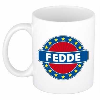Namen koffiemok / theebeker fedde 300 ml