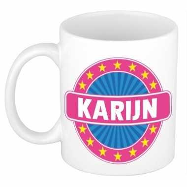 Namen koffiemok / theebeker karijn 300 ml