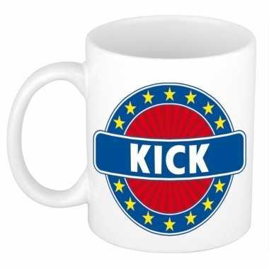 Namen koffiemok / theebeker kick 300 ml