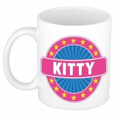Namen koffiemok / theebeker kitty 300 ml