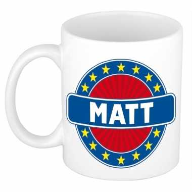 Namen koffiemok / theebeker matt 300 ml