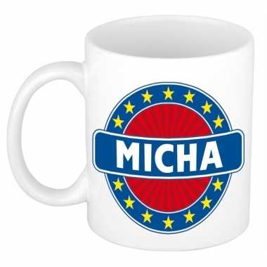 Namen koffiemok / theebeker micha 300 ml