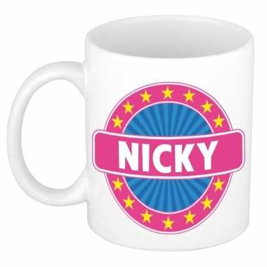 Namen koffiemok / theebeker nicky 300 ml
