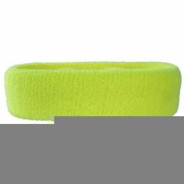 Neon gele hoofd zweetband voor volwassenen trend