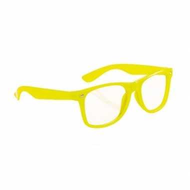 Neon gele party bril