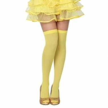 Neon gele verkleed kousen voor dames
