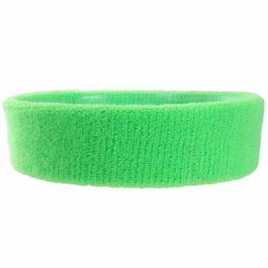 Neon groene hoofd zweetband voor volwassenen trend