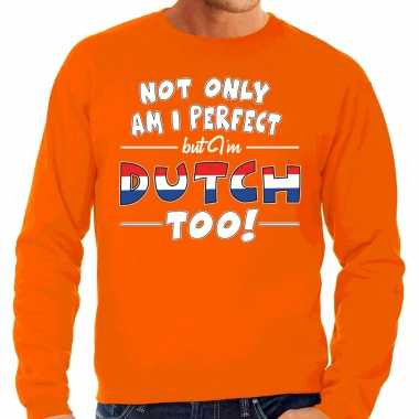 Not only perfect dutch / nederland sweater oranje voor heren