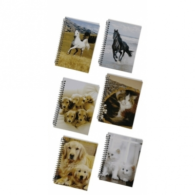 Notitieblok a6 honden pups