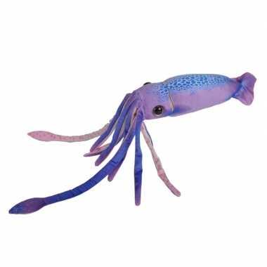 Octopussen speelgoed artikelen octopus knuffelbeest paars 38 cm