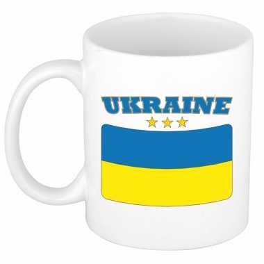 Oekraiense vlag theebeker 300 ml