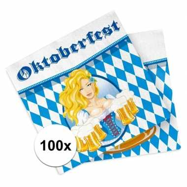 Oktoberfest - 100x oktoberfest versiering servetten