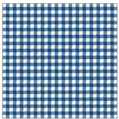 Oktoberfest - 40x geruite blauw/witte servetten 33 x 33 cm