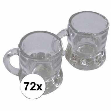 Oktoberfest - 72x shotglas bierpul met handvat 20 ml