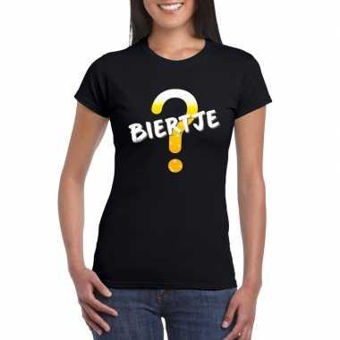 Oktoberfest - biertje tekst t-shirt zwart dames