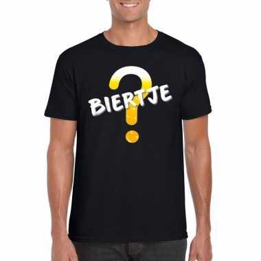 Oktoberfest - biertje tekst t-shirt zwart heren