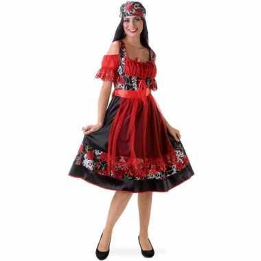 Oktoberfest jurkje rood met zwart