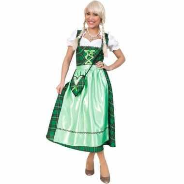 Oktoberfest kostuum met groene schotse ruit
