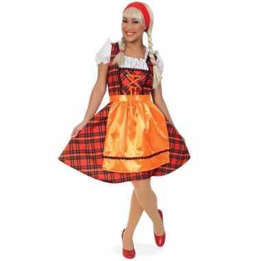 Oktoberfest kostuum met schotse ruit