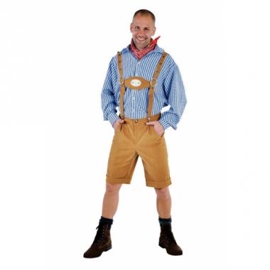 Oktoberfest lederhosen lichtbruin