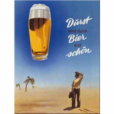 Oktoberfest muurdecoratie durst wird durch bier erst sch?n 20 x
