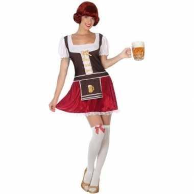 Oktoberfest - oktoberfest verkleed jurkje rood fluweel voor dames