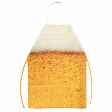 Oktoberfest - schort met bier patroon one size