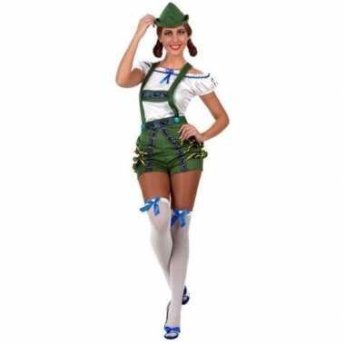 Oktoberfest - sexy oktoberfest verkleed pak/kostuum groen voor dames