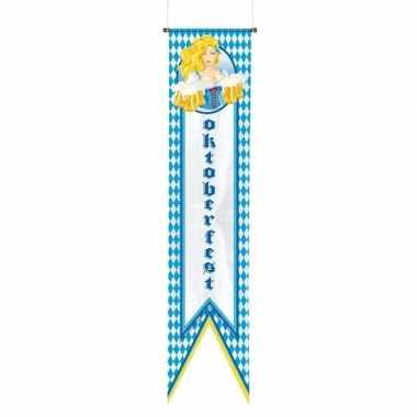 Oktoberfest versiering banner/wimpel vlag 180 cm