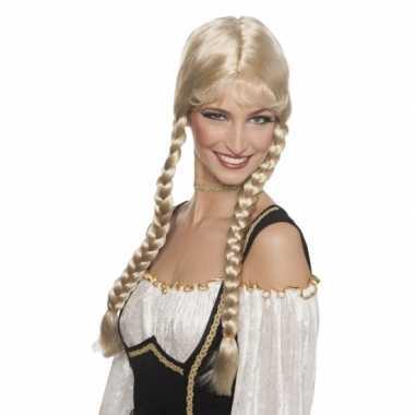 Oktoberfestdamespruik blond