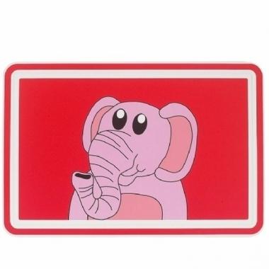 Olifanten placemat van 44 cm