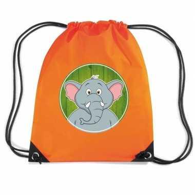 Olifanten rugtas / gymtas oranje voor kinderen