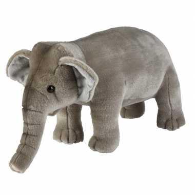 Olifanten speelgoed artikelen olifant knuffelbeest grijs 28 cm