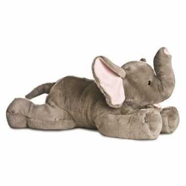 Olifanten speelgoed artikelen olifant knuffelbeest grijs 70 cm