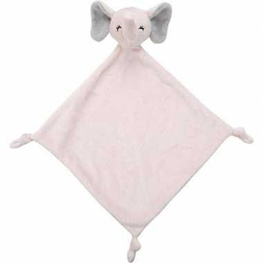 Olifanten speelgoed artikelen olifant tuttel/knuffeldoek knuffelbeest