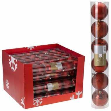 Onbreekbare kerstballen rood 12 stuks