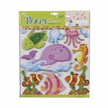 Onderwaterwereld kamer/raamdecoratie 3d stickers voor kinderen