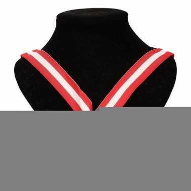 Oostenrijk medaille halslint rood wit rood trend