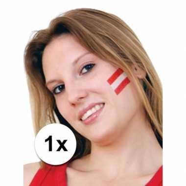 Oostenrijk vlag tattoeage